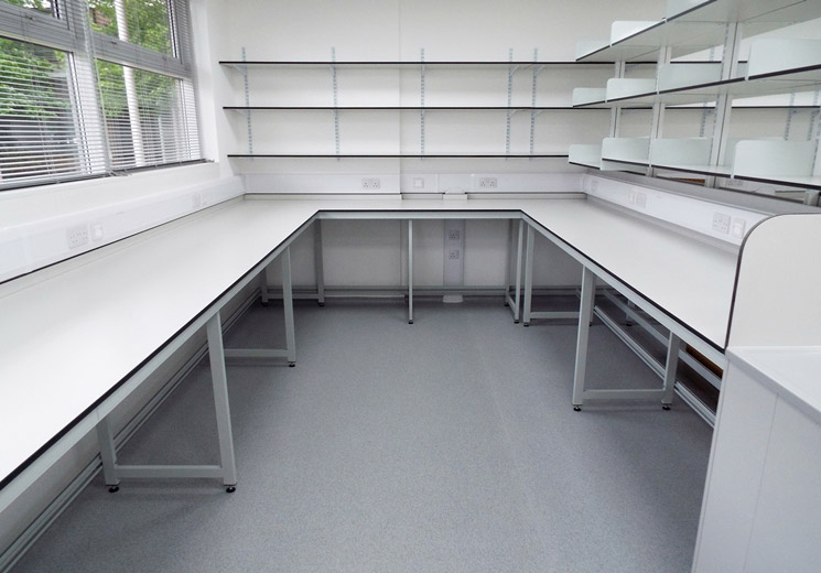 Shelving by laboratory furniture suppliers